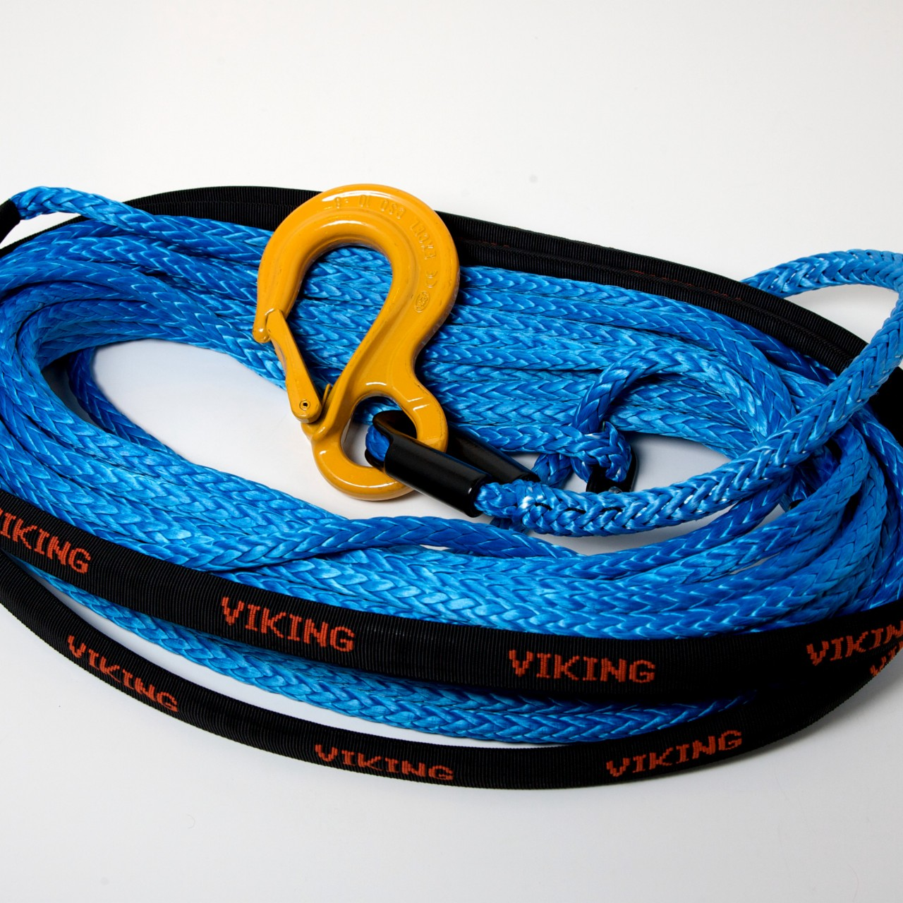 1/2 inch x 75' Viking Offroad Winchline - Blue w/Tube Thimble & Hook