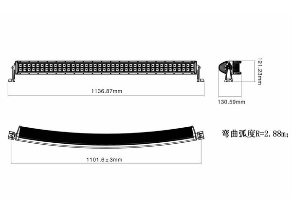 "Twisted 40"" Pro Series Curved LED Light Bar"