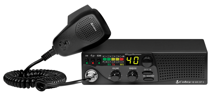 Cobra 18 WX ST II 40 Channel 4Watt CB Radio with Weather and Soundtracker Noise Reduction System