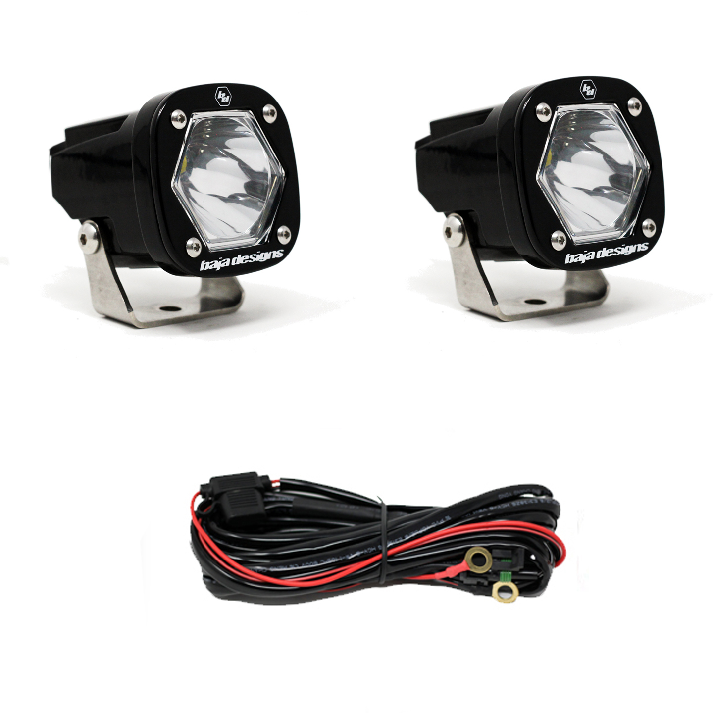 S1 Spot LED Light with Mounting Bracket Pair Baja Designs