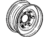Toyota 4Runner Wheel Disc (For Front) 6JJ-15, Silver, Silver -1985
