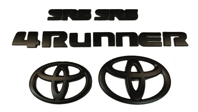 SR5 4Runner Blackout Emblem Kit - 2016-2020