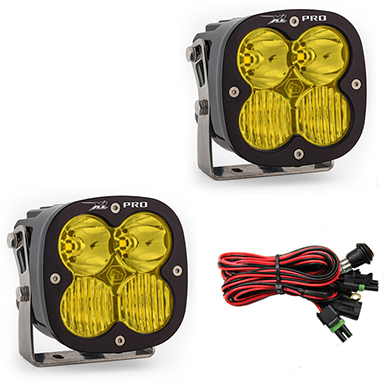 LED Light Pods Amber Lens Driving Combo Pattern Pair XL Pro Series Baja Designs