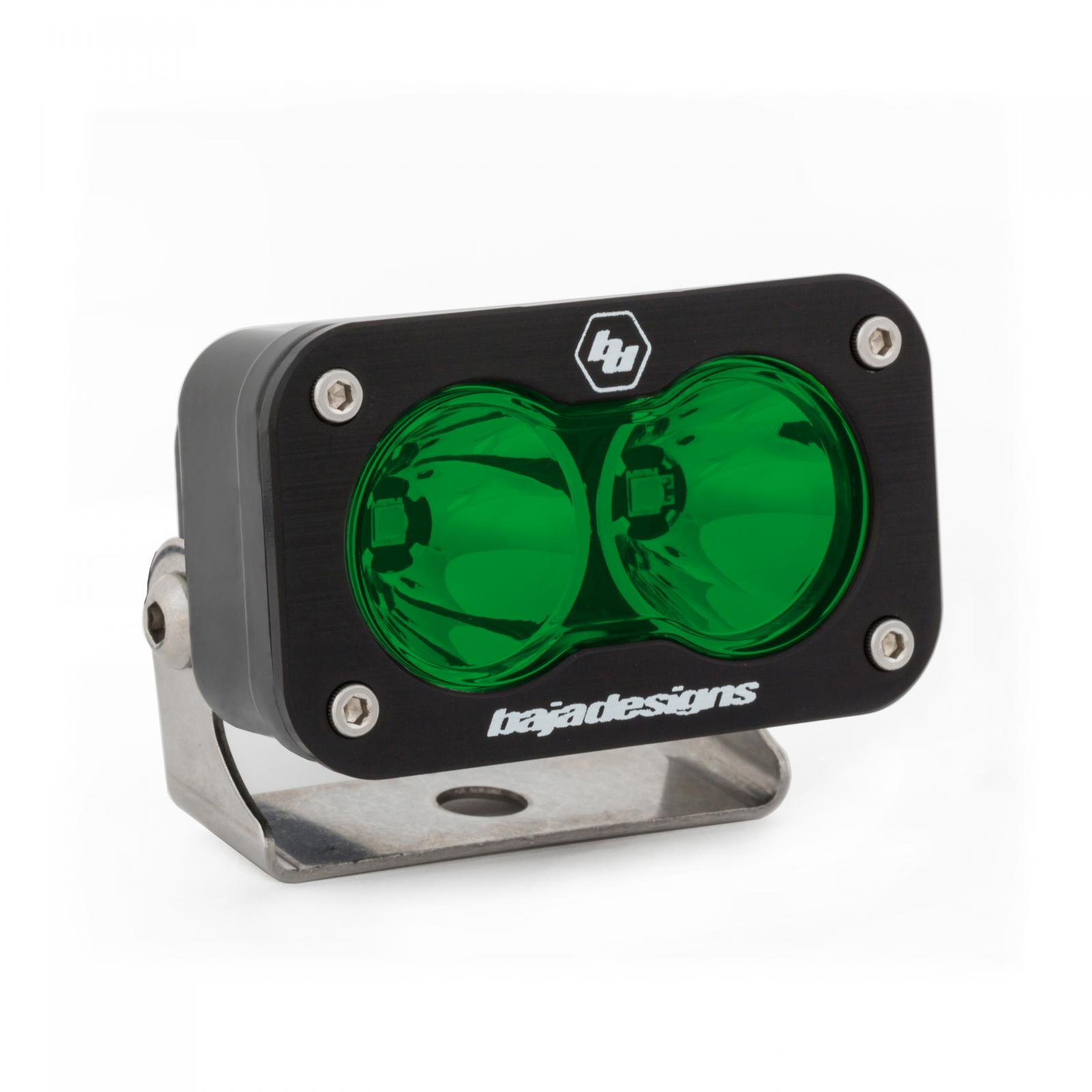 LED Work Light Green Lens Spot Pattern S2 Sport Baja Designs