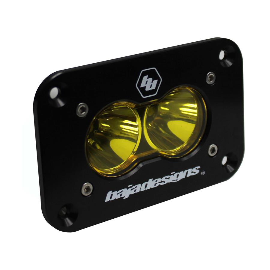 LED Work Light Amber Lens Work/Scene Pattern Flush Mount Each S2 Sport Baja Designs