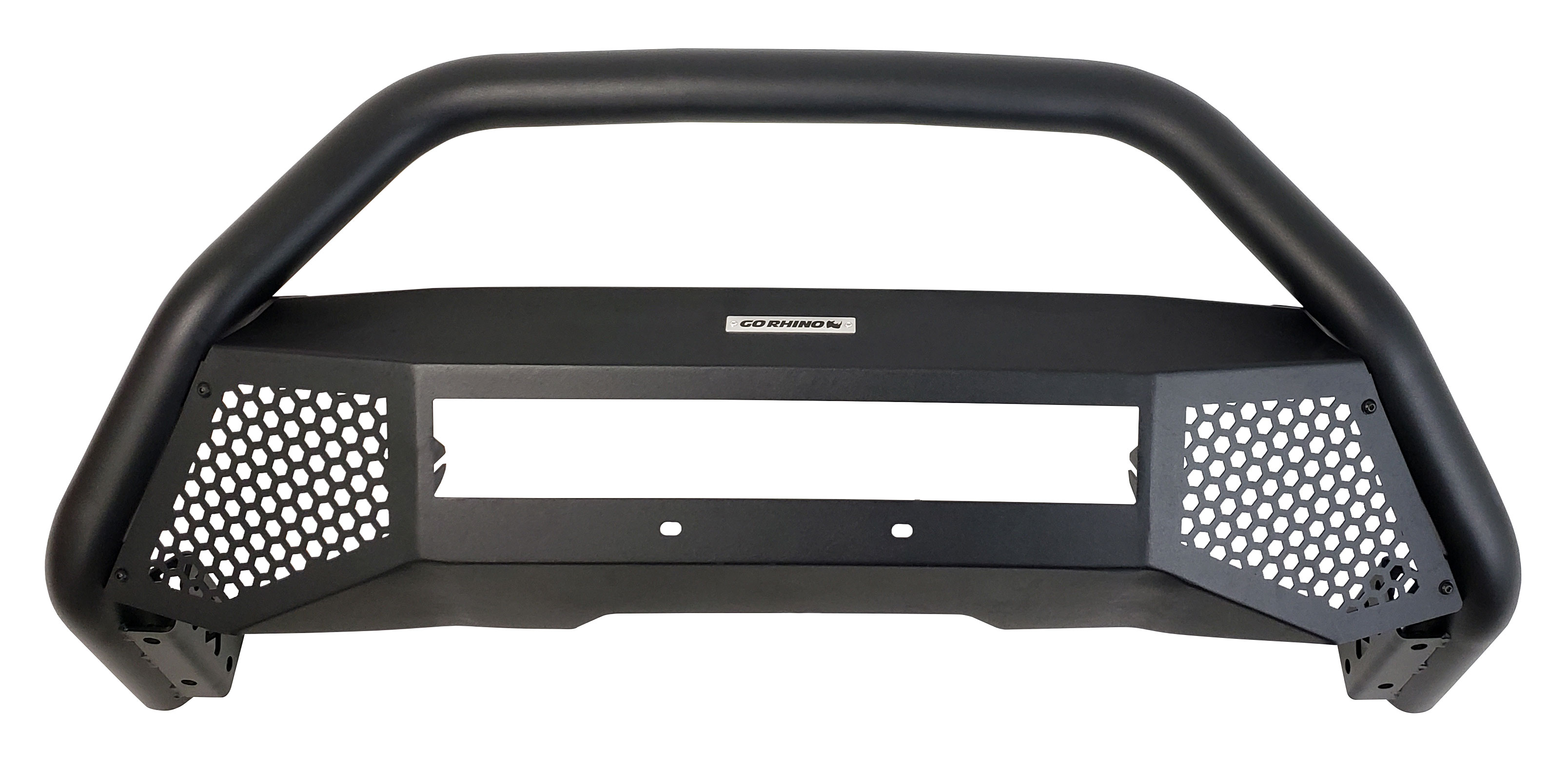 "*NEW* Go Rhino 2.5"" RC4 LR Black Bull Bar with Skid Plate; 2014-2019"
