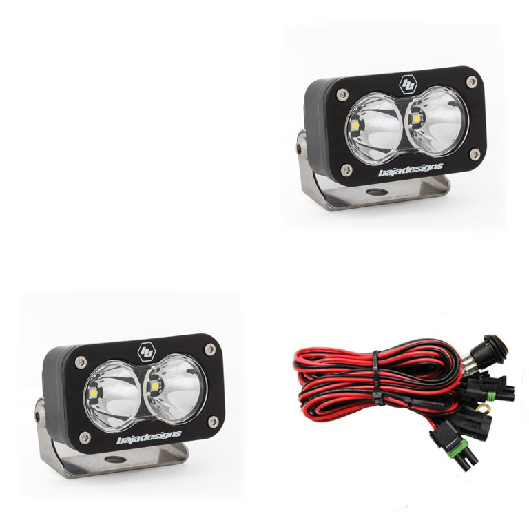 LED Work Light Clear Lens Work/Scene Pattern Pair S2 Sport Baja Designs
