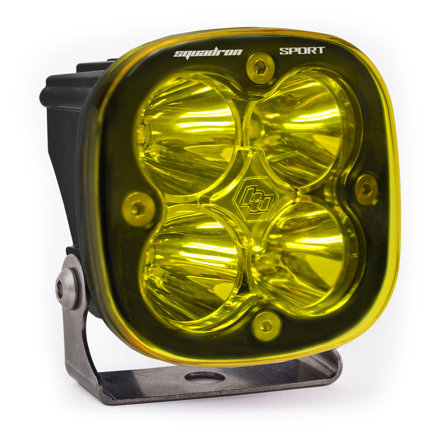LED Light Pod Spot Pattern Clear Amber Black Squadron Sport Baja Designs