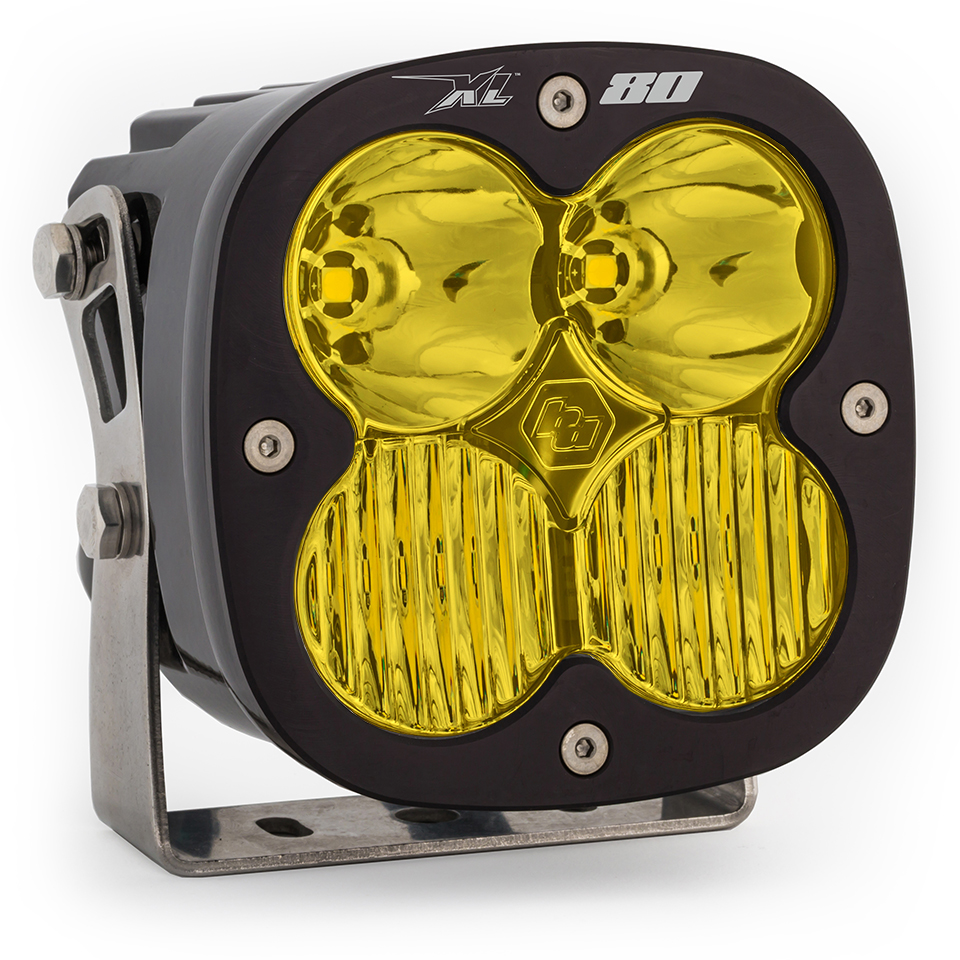 LED Light Pods Amber Lens Spot Each XL80 Driving/Combo Baja Designs