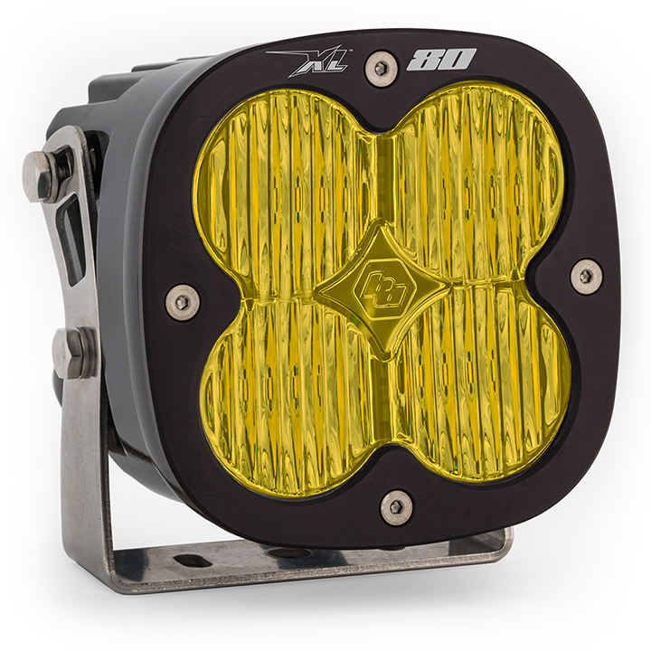 LED Light Pods Amber Lens Spot Each XL80 Wide Cornering Baja Designs