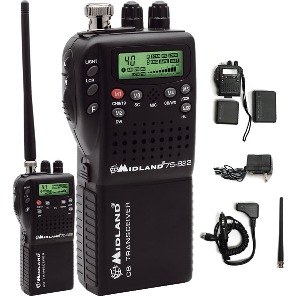 Midland Handheld CB Radio with Vehicle Adapter
