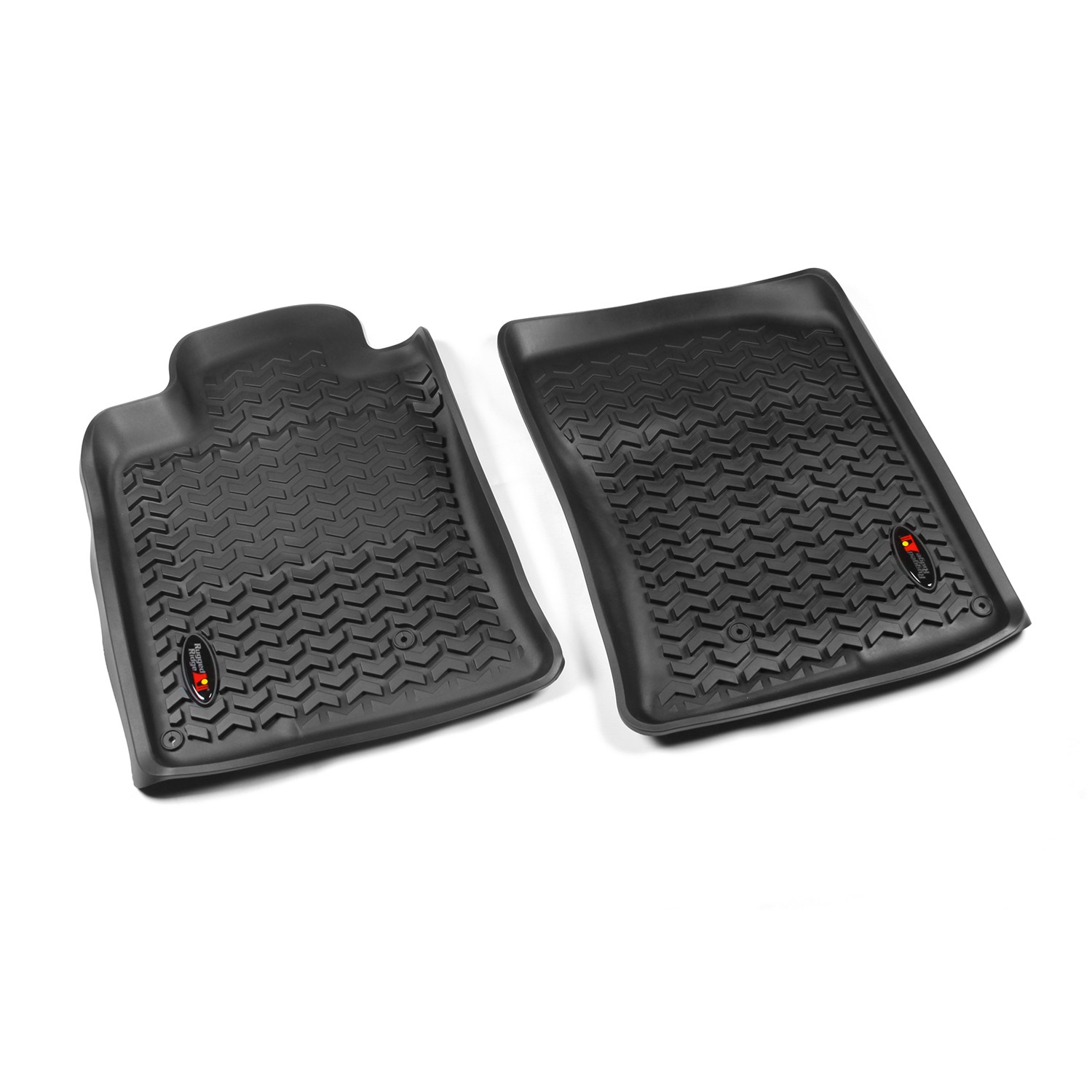 Rugged Ridge 10-13 Front Floor Liner Kit - Black
