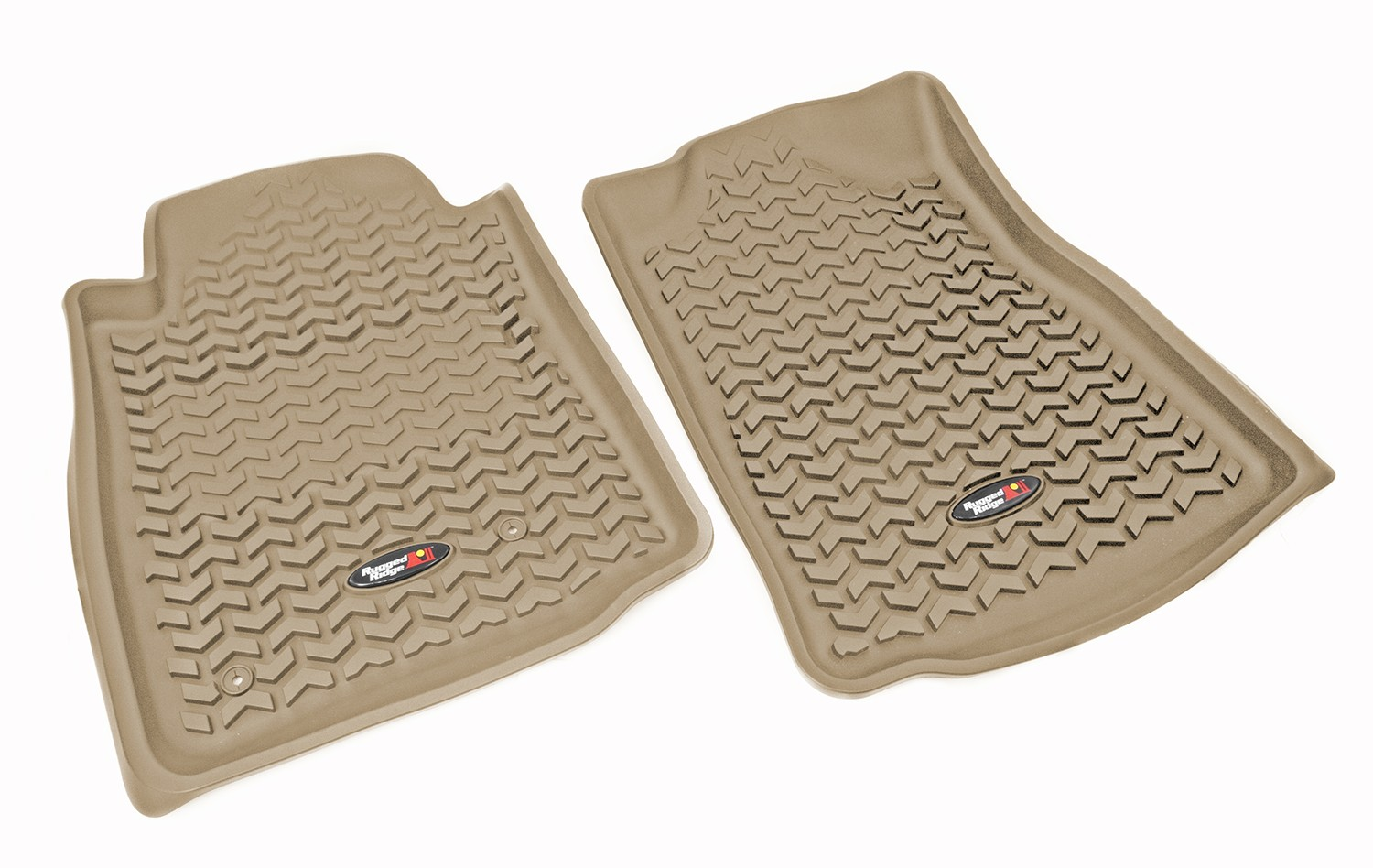 Rugged Ridge 10-13 Front Floor Liner Kit - Tan