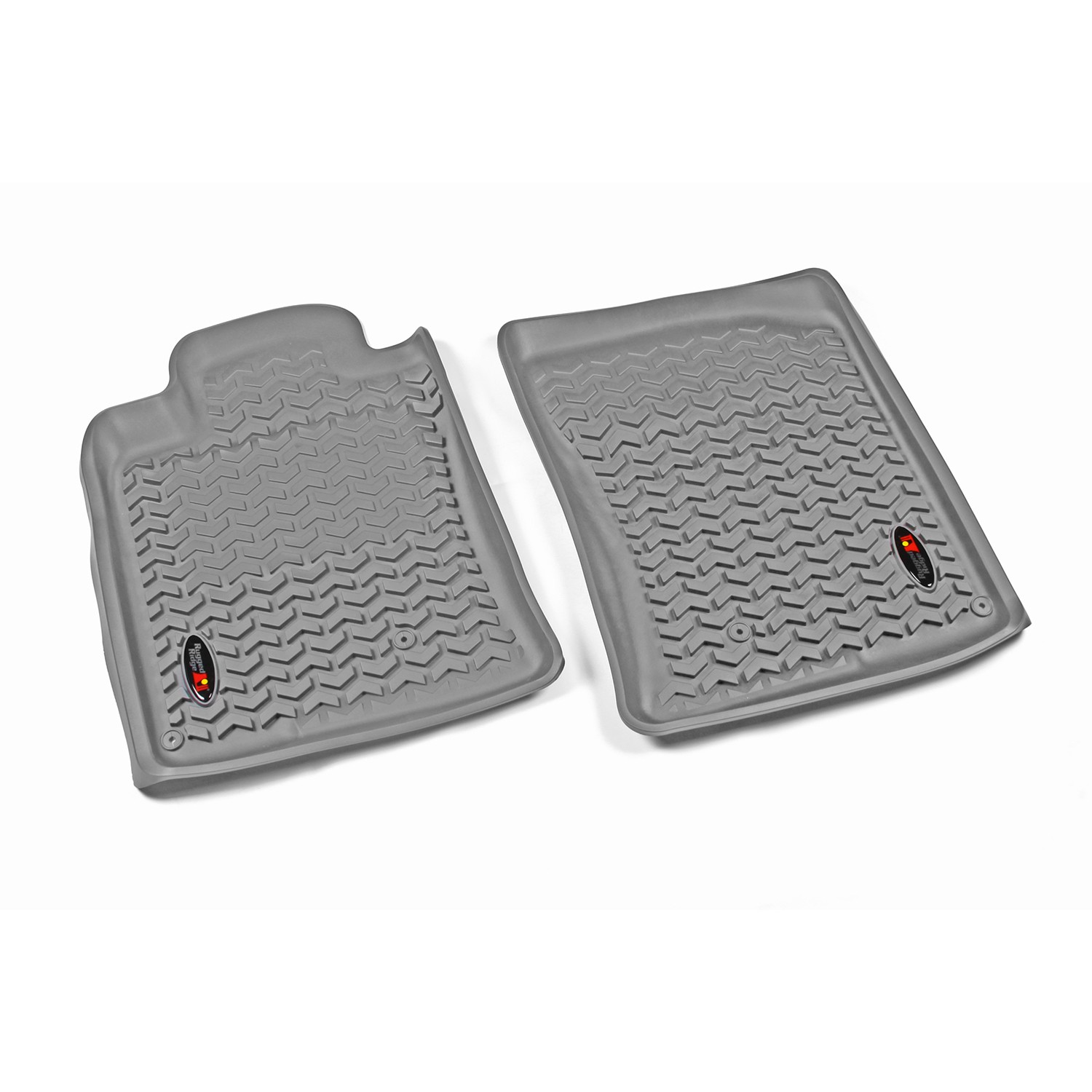 Rugged Ridge 10-13 Front Floor Liner Kit - Grey