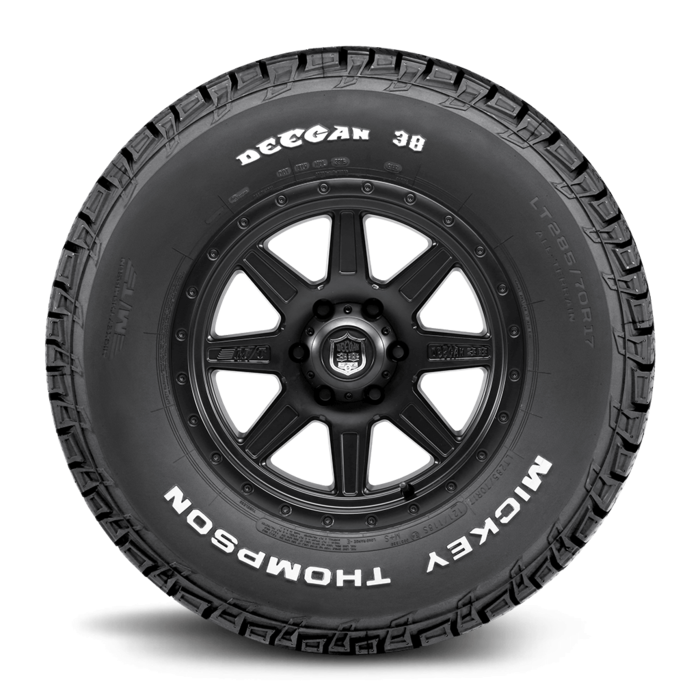 Deegan 38 All-Terrain 16.0 Inch LT245/70R16 Raised White Letter Light Truck Radial Tire Mickey Thompson