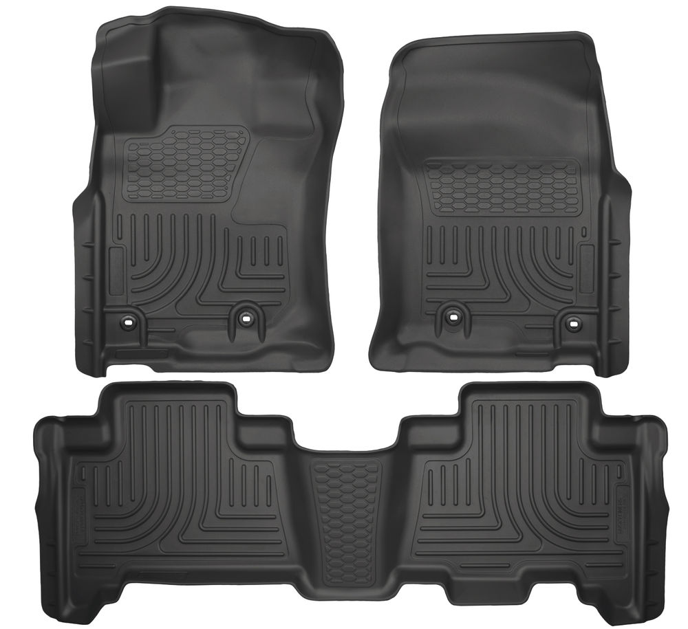 Husky 4Runner Front & 2nd Seat Floor Liners (BLACK) 2013-16