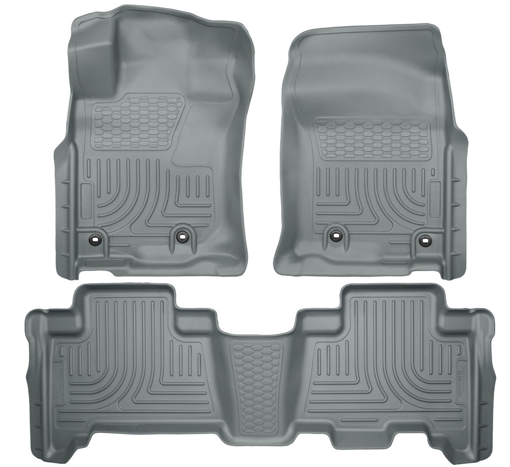Husky 4Runner Front & 2nd Row Floor Liners (GRAY) 2013-16