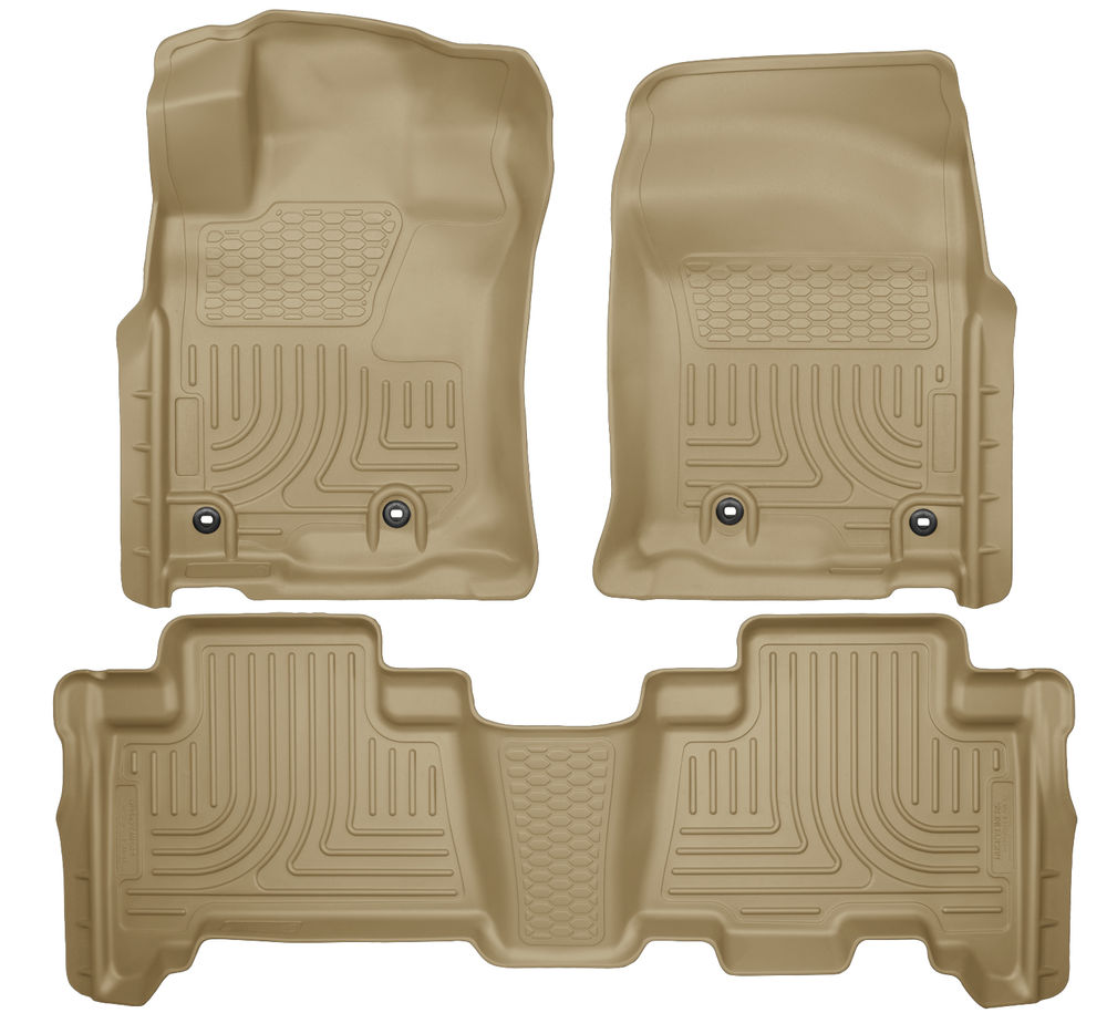 Husky 4Runner Front & 2nd Seat Floor Liners (TAN) 2013-16