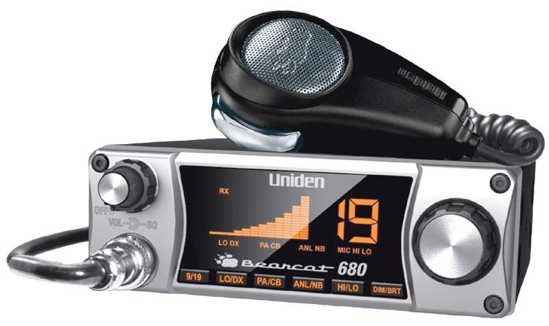 Uniden Bearcat 680 CB Radio with Ergonomic Pistol Grip Mic