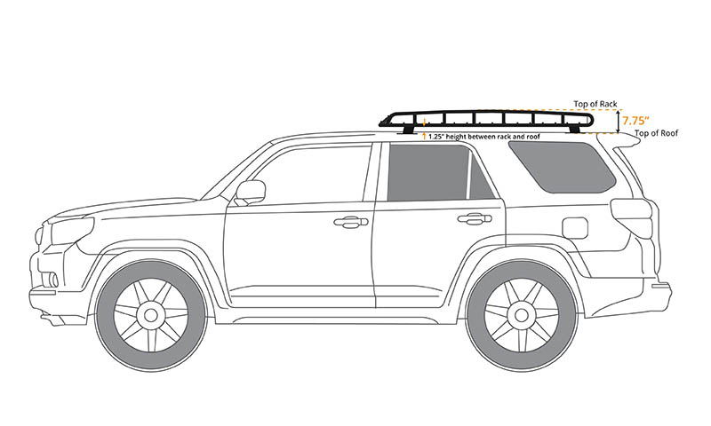 4Runner Gen 5 Standard Basket Rack 2010-2018