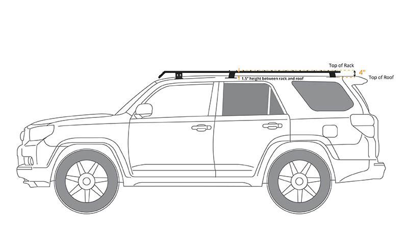 Baja Rack 4Runner Gen 5 UTility (flat) Rack (sunroof cutout - mesh floor) 2010-2021