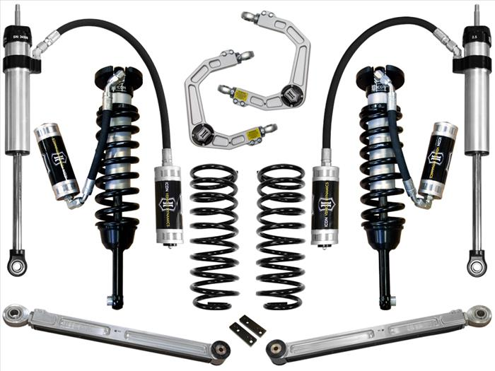 Icon 0-3.5 inch Stage 5 Suspension System w/Billet UCA; 2003-2009 4Runner