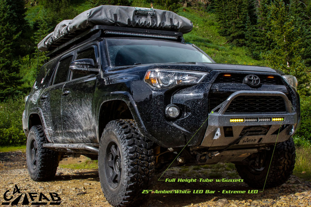 4runner bumper c4 winch lo fabrication fab toyota bumpers gen pure4runner lopro f150 trd bar bull truck led 5th cut