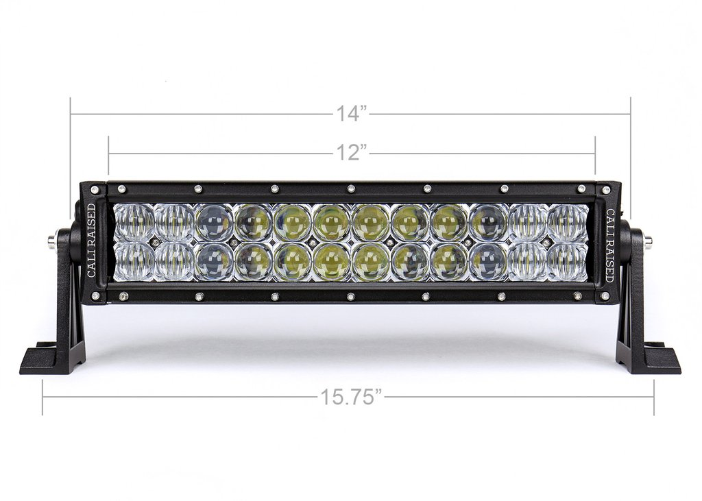 Cali Raised 14 In. Dual Row 5D Optic OSRAM LED Bar