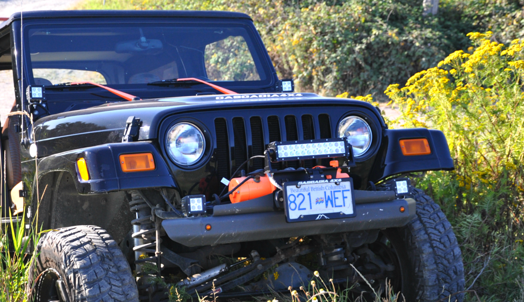 Cascadia Flipster inchLite inch - Fairlead Light Mount Integrated with Winch License Plate System