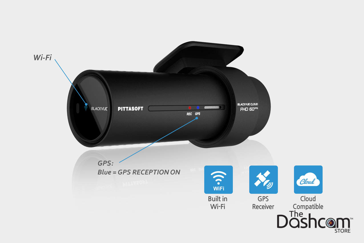 BlackVue 1080p Dual-Lens Cloud-Capable WiFi GPS Dashcam for Front and Rear