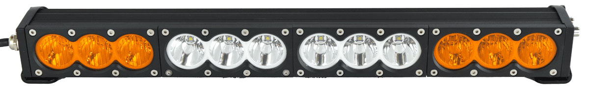 X6 10W Series 2D Amber White 22 inch Single Row LED Light Bar & Harness Kit