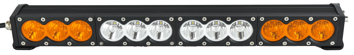"X6 10W Series 2D Amber White 50"" Single Row LED Light Bar - 25,650 Lumens - Combo Beam"