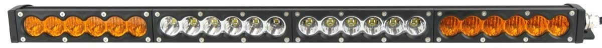 X6S Slim Series 2D Amber White 25 inch Single Row LED Light Bar - 11,400 Lumens - Combo Beam