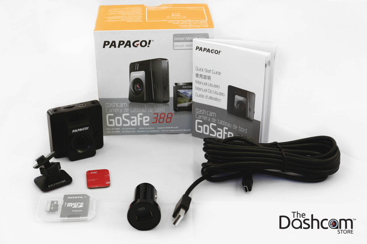 PAPAGO! GoSafe 388 Full HD 1080p Compact Single Lens Dash Cam