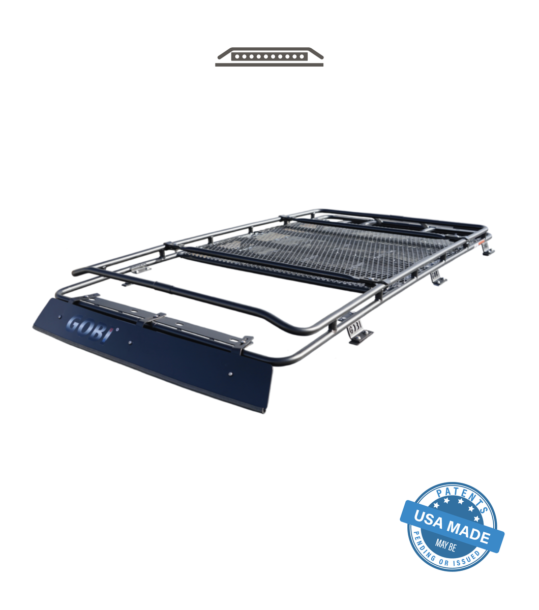 GOBI 4th Gen 4Runner Stealth Rack; Lightbar Setup; WITH SUNROOF 2003-2009