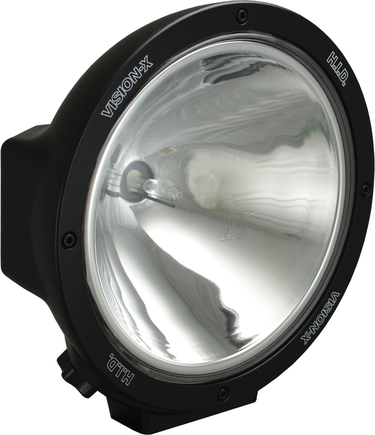 "8.7"" ROUND BLACK 50 WATT HID SPOT LAMP"