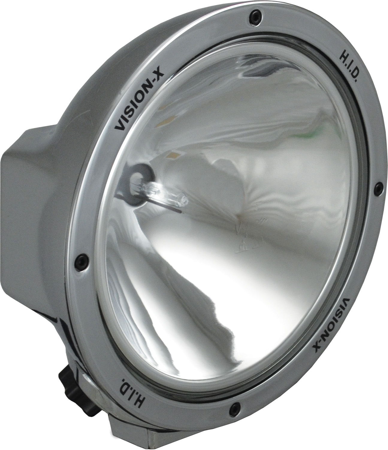 "8.7"" ROUND CHROME 50 WATT HID SPOT LAMP"