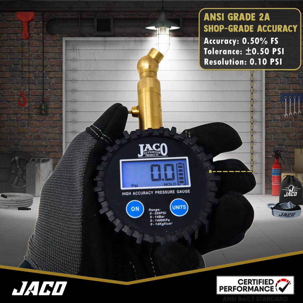 *NEW* - JACO Elite Digital Tire Pressure Gauge - 100 PSI