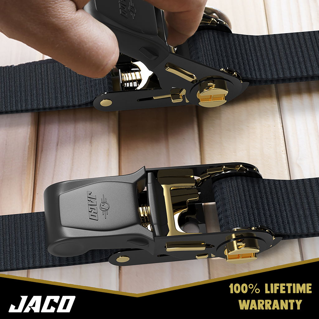 *NEW* - JACO Tie Down Ratchet Straps (Medium Duty) 1 in x 15 ft - Ships Free!