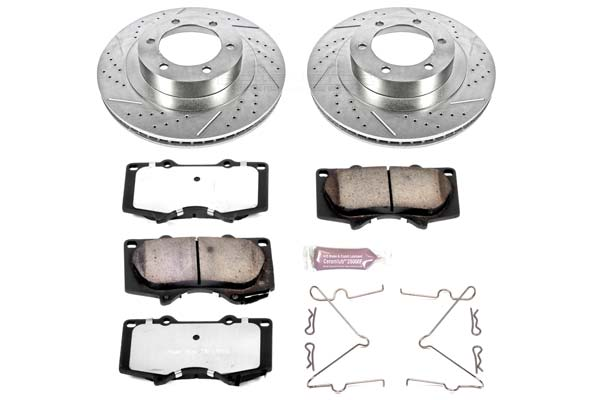 Power Stop Z36 Truck & Tow Brake Pads and Rotors - FRONT ONLY 338mm; 2003-2009 4Runner