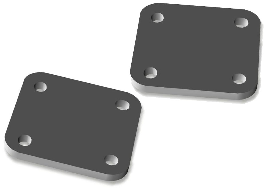XD Bumper Shackle Mount Backing Plates - Pair