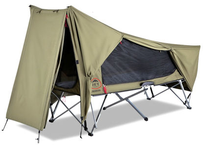 OZTENT Jet Tent Bunker 1 person Tent Cot