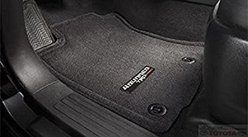 Set of Black Carpet Floor Mats with TRD Pro Patch Logo - Toyota (PT208-89150-20)