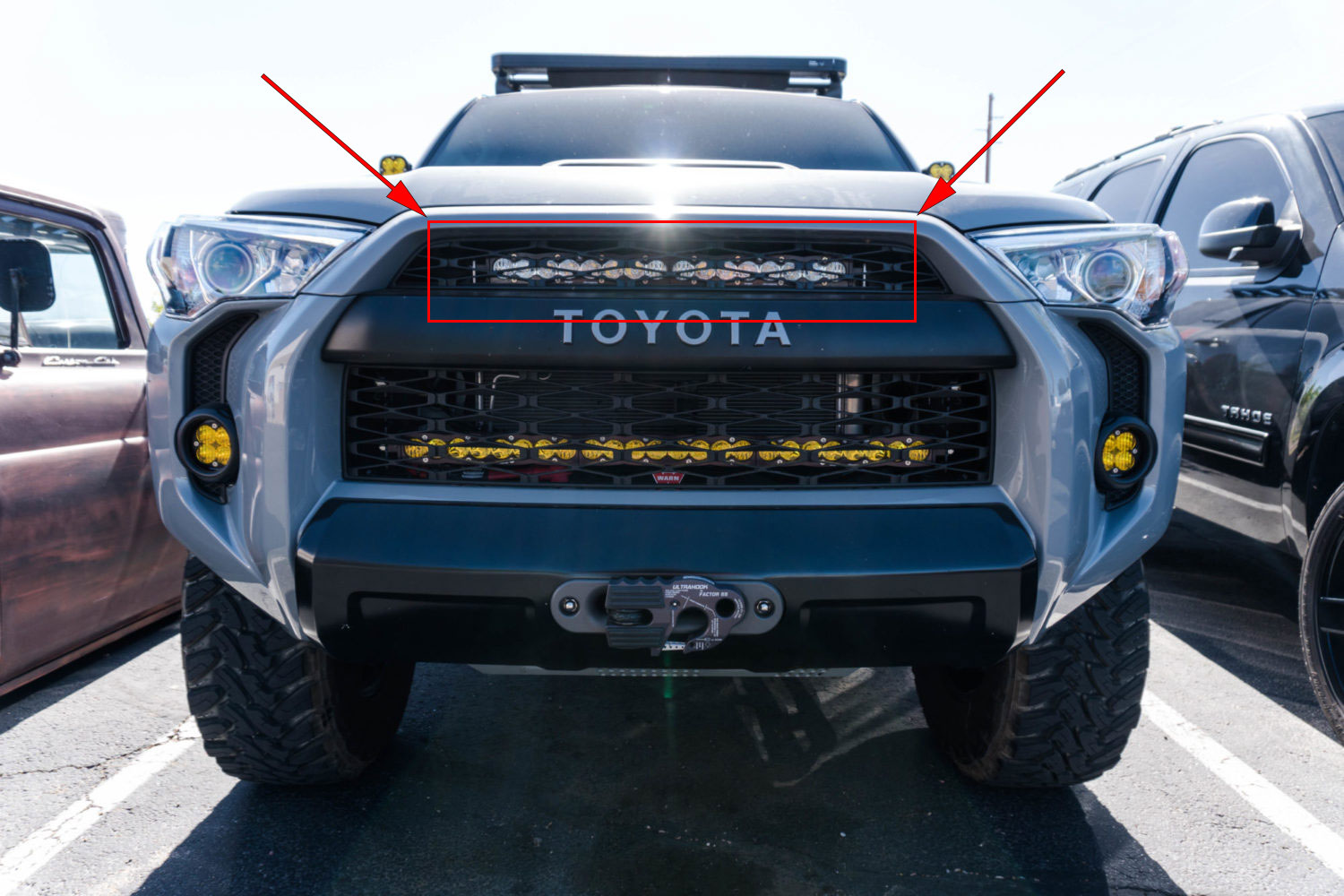 SDHQ 2014-Current 4Runner 20 inch Behind-The-Grille Top Mount Kit