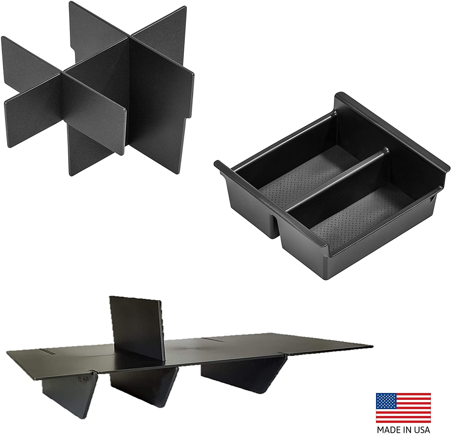 Vehicle OCD Center Console Divider, Tray, and Glove Box Organizer 2010-2021 4Runner - Ships Free