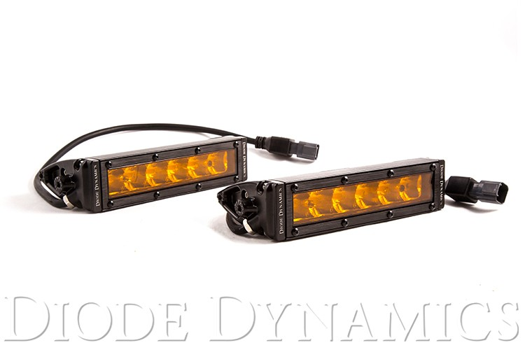SS6 Stage Series 6 inch Amber Light Bar (pair)