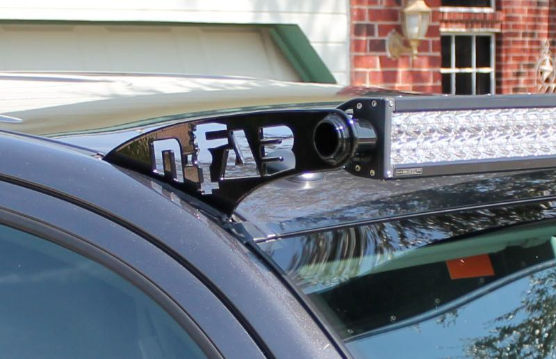 N-Fab TOYOTA 4-RUNNER ROOF MOUNTED 50-SERIES LED GLOSS BLK BRACKETS 2010+