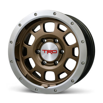 TRD Off-Road Beadlock Style Wheel 16 x 7.5; Bronze