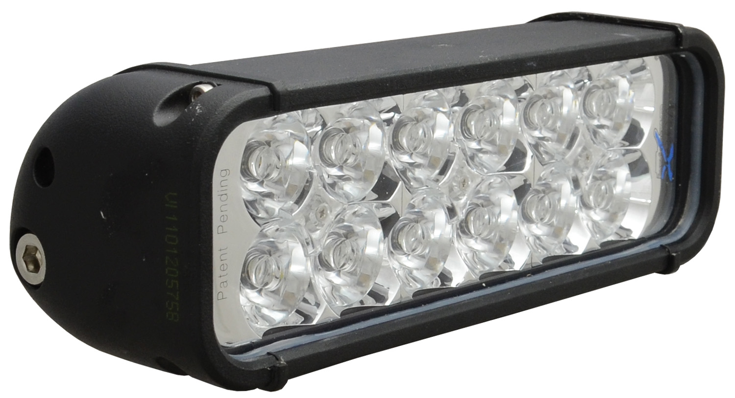 "8"" LED LIGHT BAR BLACK 12 3W LED'S EURO"