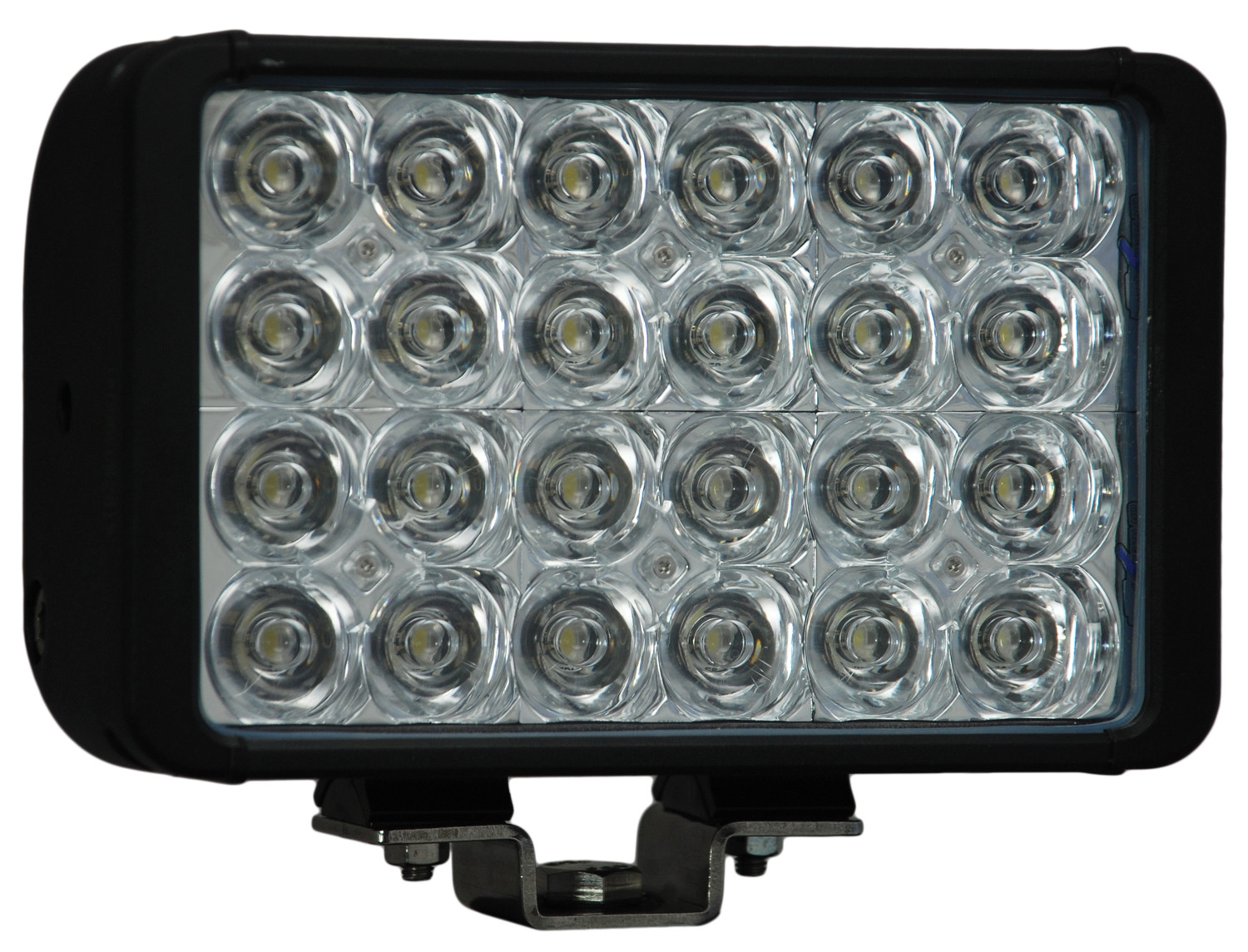 "8"" XMITTER DOUBLE BAR BLACK 24 3W LED'S EURO"